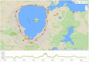 ロトルアマラソンコースマップ
