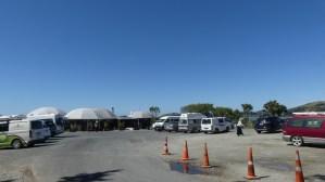 モエラキボールダーズのカフェ駐車場