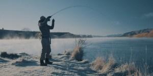 PureNzFly冬の朝人造湖でのフライフィッシング