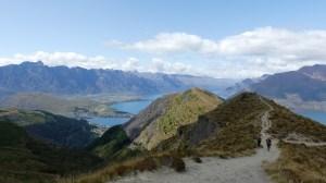 ベンロモンドへの登り坂途中で振り返った風景