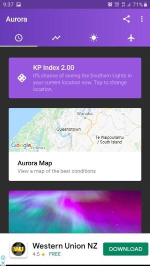 マイオーロラ予報アプリ