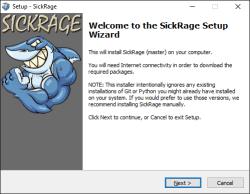 sickrage-windows-instalatie