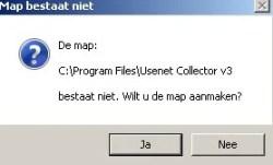 usenetcollecor map aanmaken