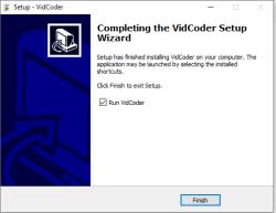 vidcoder install ready