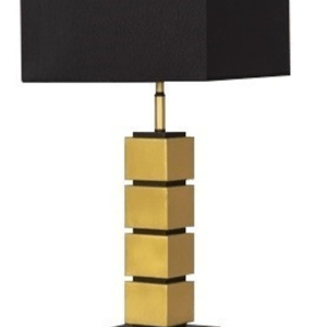 SL2022GOLD BLACK TABLE LAMP