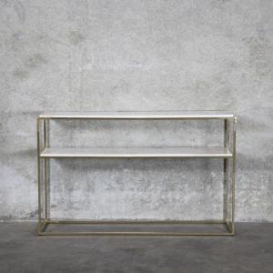 Maeve Marble Console - Brushed Brass