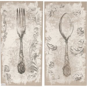 32841  S/2 Danica Fork-and-Spoon Wall  Prints