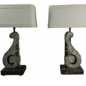 SL2008 TABLE LAMP DARK/WHITE SET/2