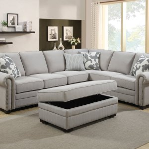 Chamber corner suite with ottoman