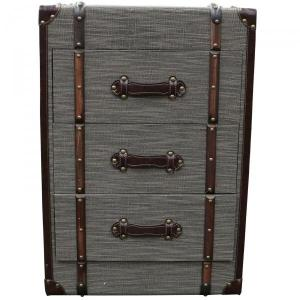 Rafael Trunk 3 Drawer Grey