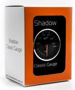 Shadow Classic Series Meter Clear face - Oil Temp