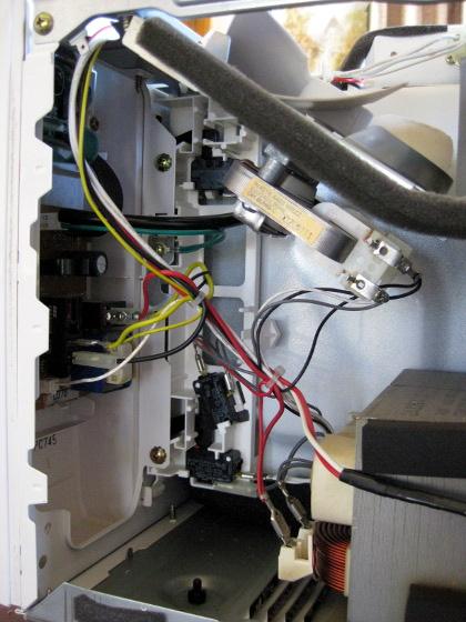 sharp carousel microwave lcd repair