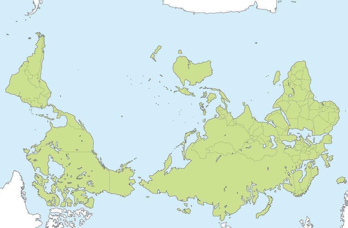 地図の不思議 ニュージーランドの地図は上下逆さま?   日刊ニュージーランドライフ