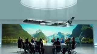 ニュージーランド航空機内安全ビデオ オールブラックス航空