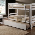Cosmos White King Single Bunk Beds King Single Trundle Bed