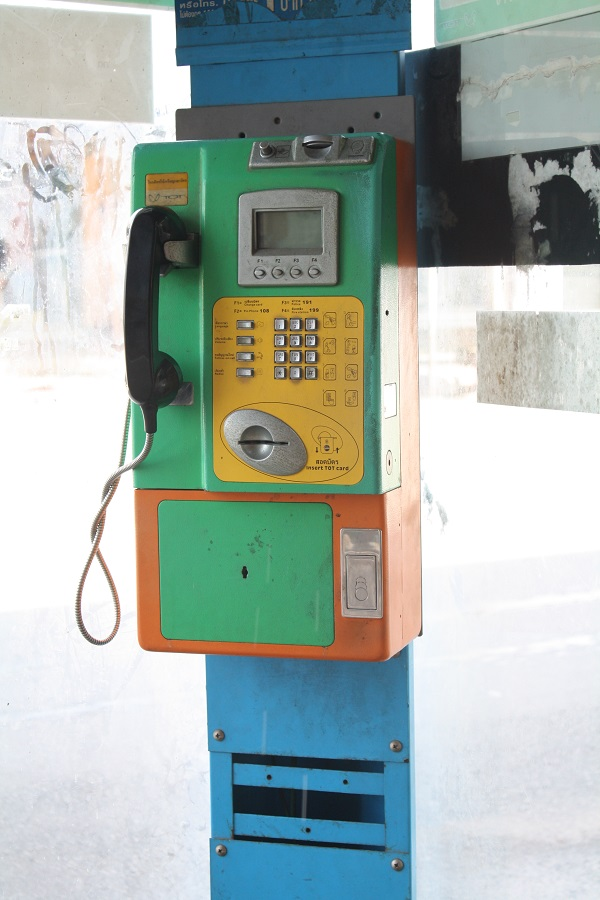 old phone booth in krabi