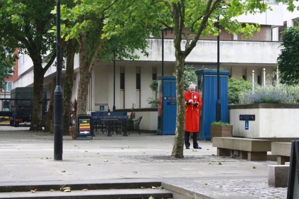 London redcoat guard
