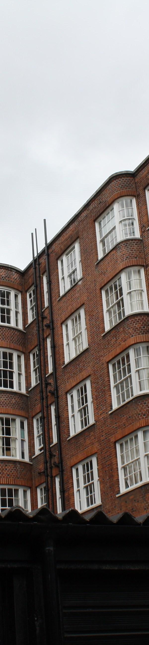 london brown brick buildings
