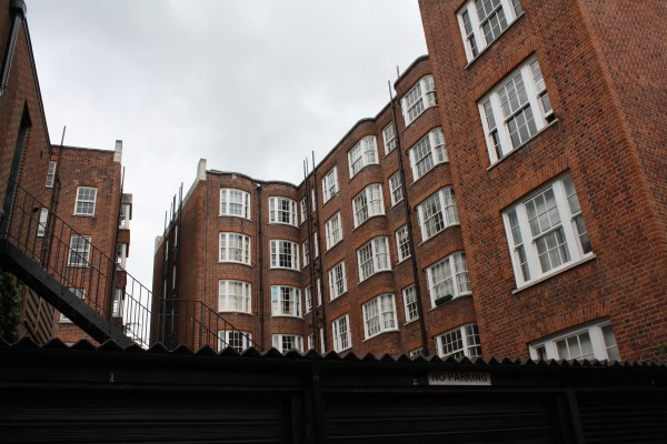 london brown brick buildings