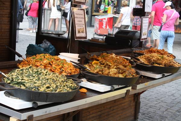 prague food stalls wencelaus sq