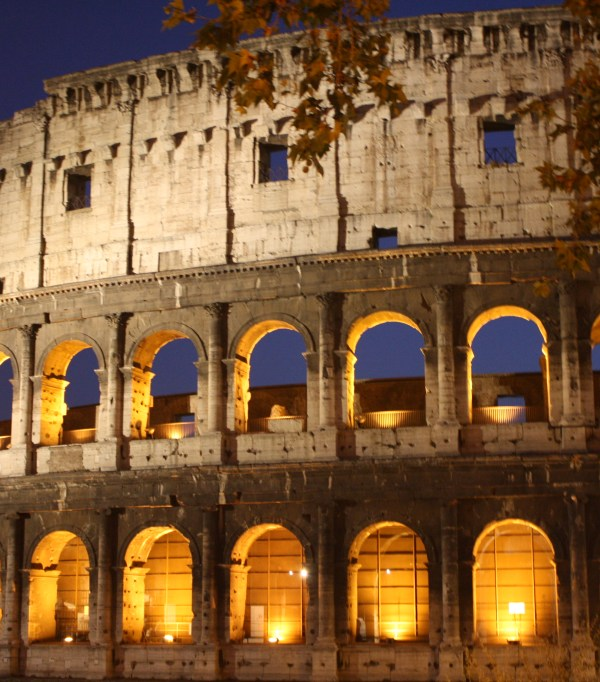 colosseum in rome lit up by night nzmuse