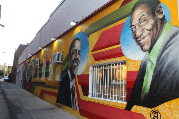 Obama street art wall mural - Washington DC
