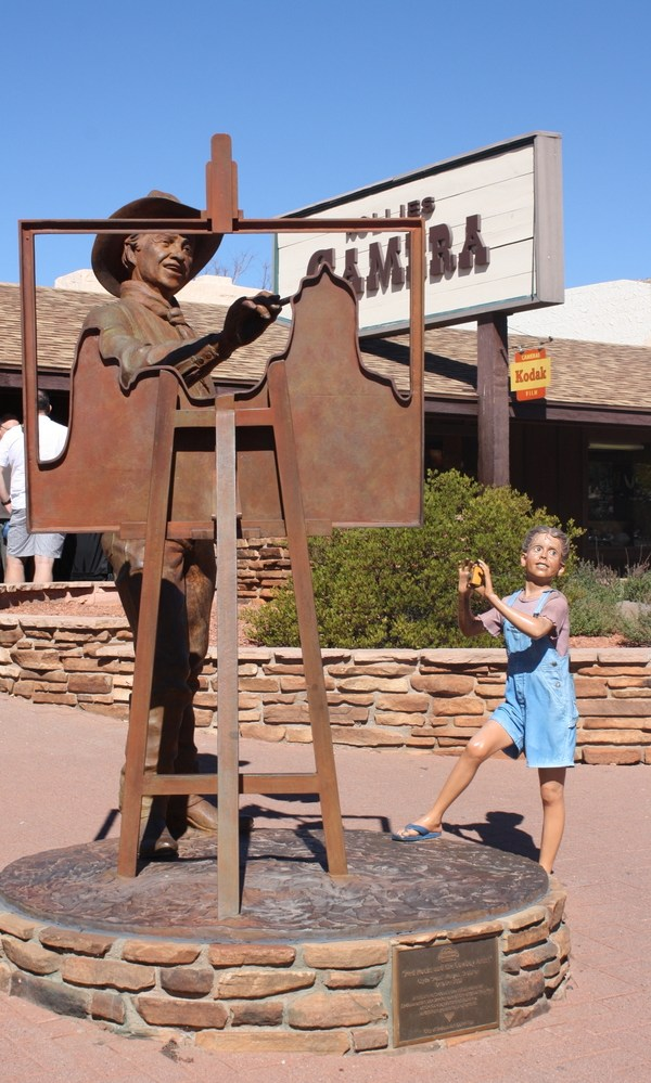 Cool statues in Sedona, Arizona