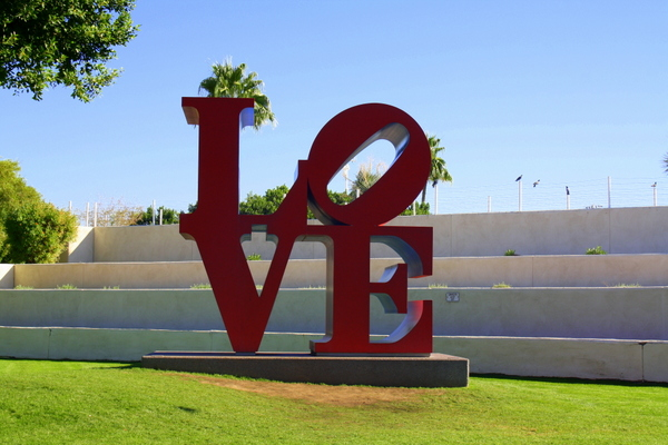 LOVE sculpture in Scottsdale Arizona