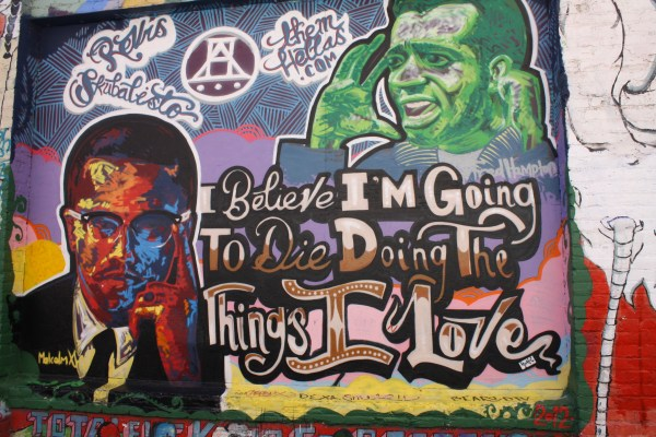I believe I'm going to die doing the things I love - San Francisco murals and street art in Mission District