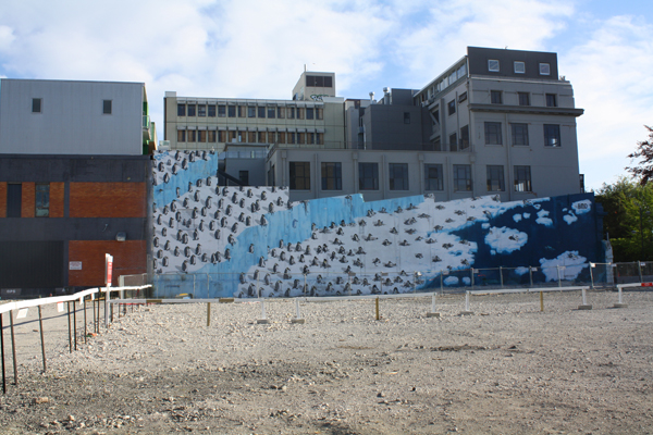 Christchurch mural on building wall