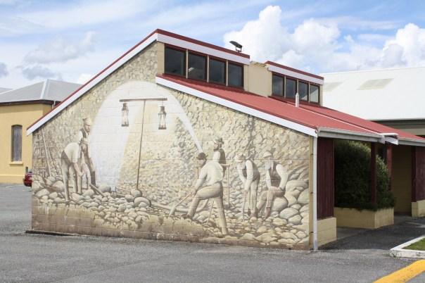 Westport public toilet - mining mural