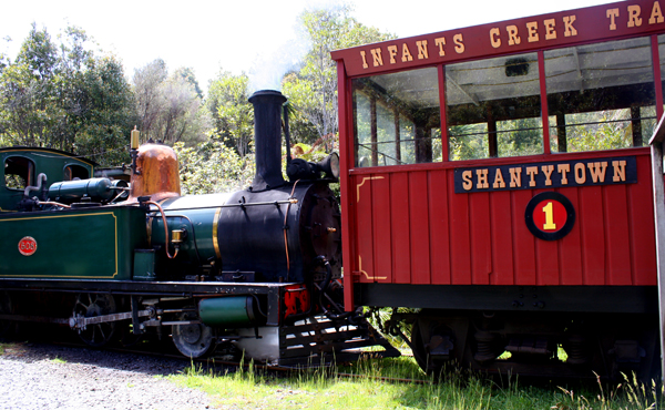 Shantytown steam train