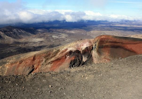 Tongariro Alpine crossing - Red Crater at summit