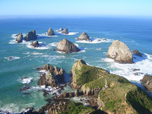 "The ""Nuggets"" at Nugget Point"