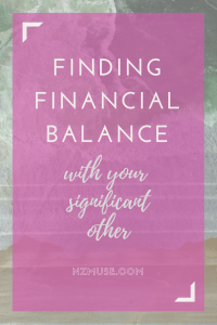 Finding financial balance with your partner