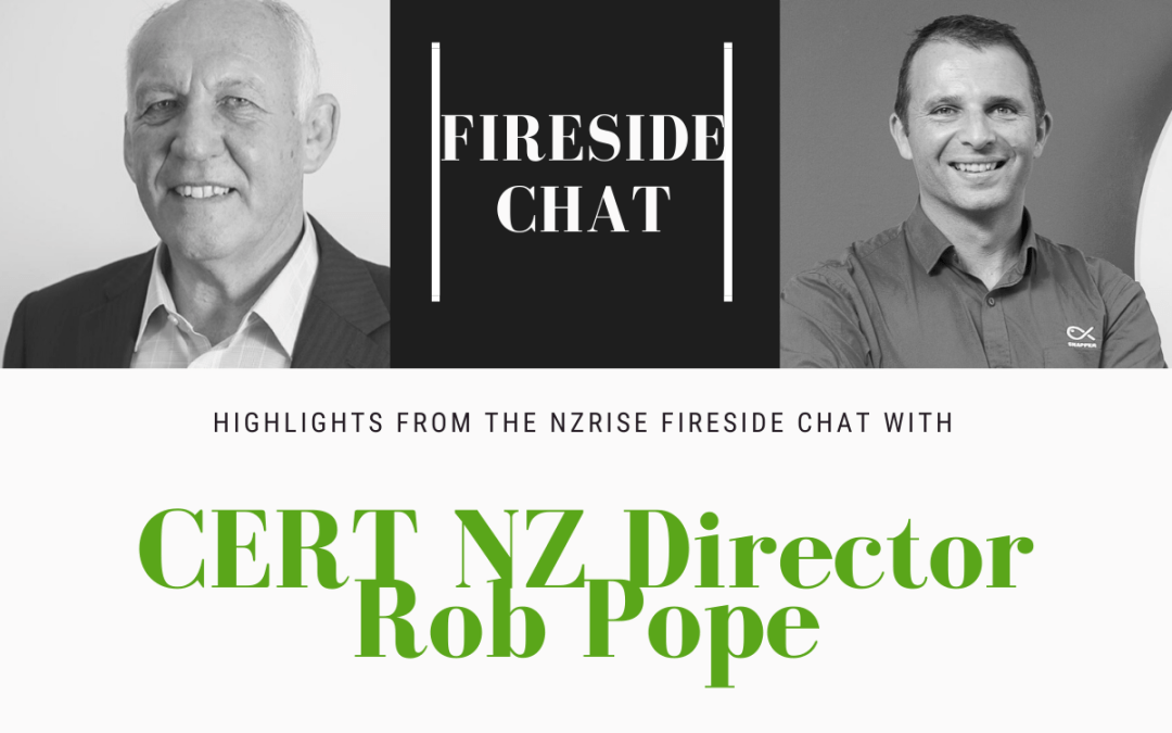 Highlights from CERT NZ Director Rob Pope's fireside chat