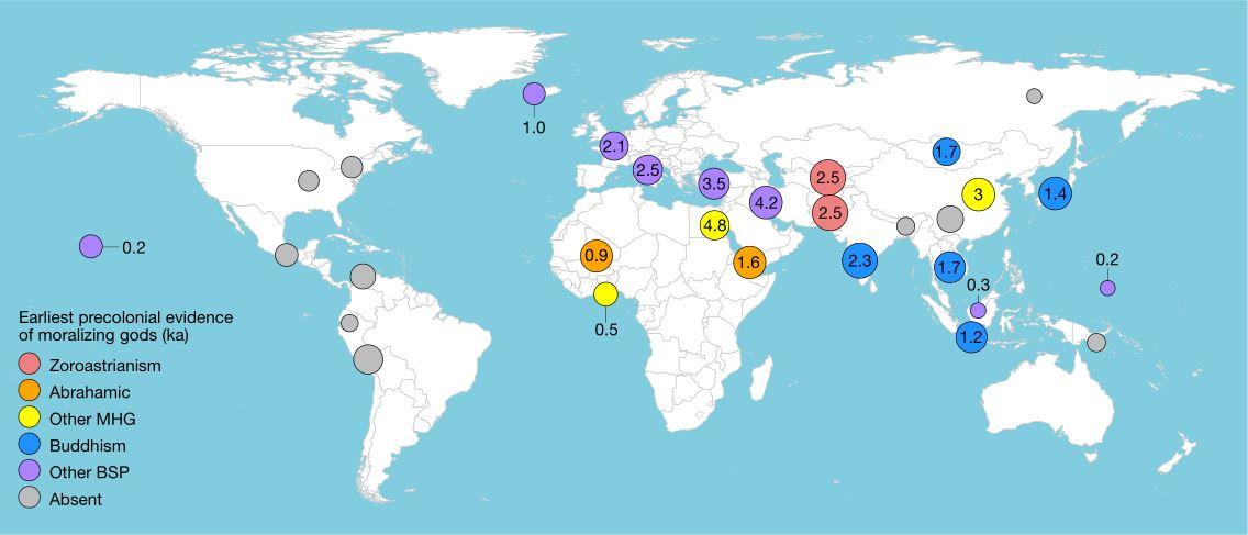 Локации на 30 региони од кои се земени примероци прикажани на светска мапа