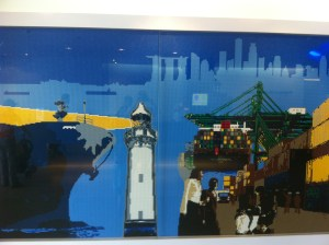Lego picture in the entrance