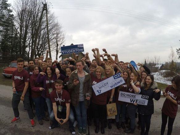 Grupa uczestników wyjazdu integracyjnego SPreJ 2015