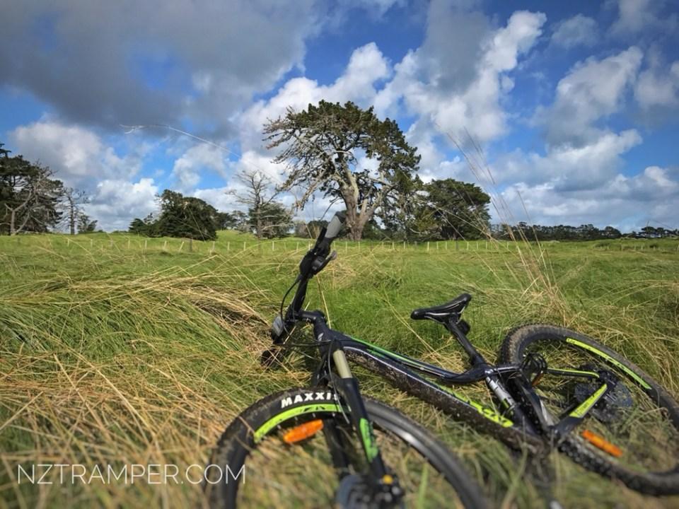 Off road cycling Watercare Coastal Walkway of Ambury Regional Park 31km