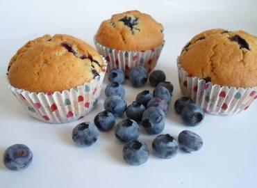 Muffins van blauwe bessen