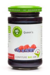 Bezegaard biologische Queen's jam, zonder suiker, gezoet met agave, bio confituur