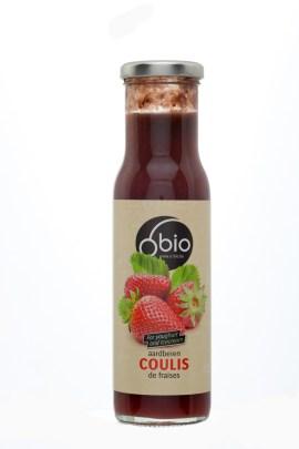 Coulis van biologische aardbeien O'Bio