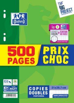 copies doubles grands carreaux 500 pages prix choc oxford
