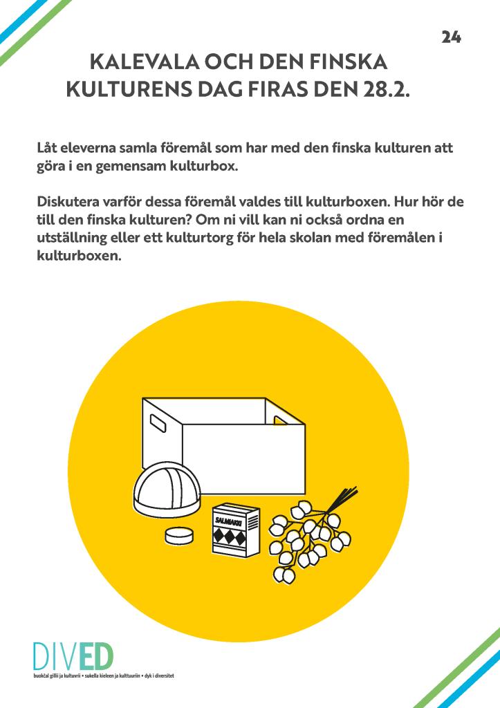 Länk till DivED-pdf om Kalevala och den finska kulturens dag.