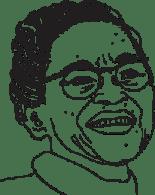 Illustrerad bild på Rosa Parks.