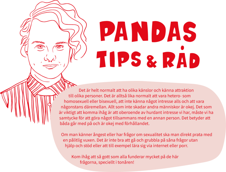 Illustration av Pandas tips & råd.