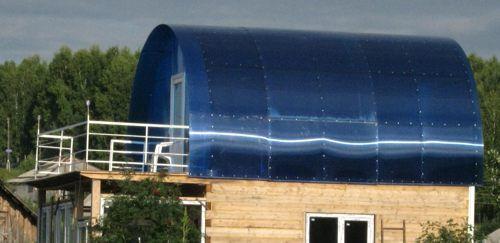 Telhado de policarbonato para banho