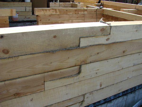 Construção de paredes banhos de madeira