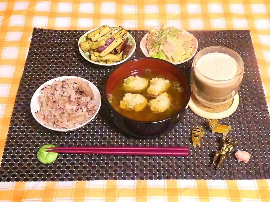 今日の夕ごはん 鶏団子とマロニーのスープ 20/02/15